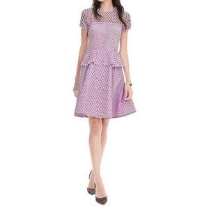 Banana Republic Geo Lace Peplum Dress, Size 8